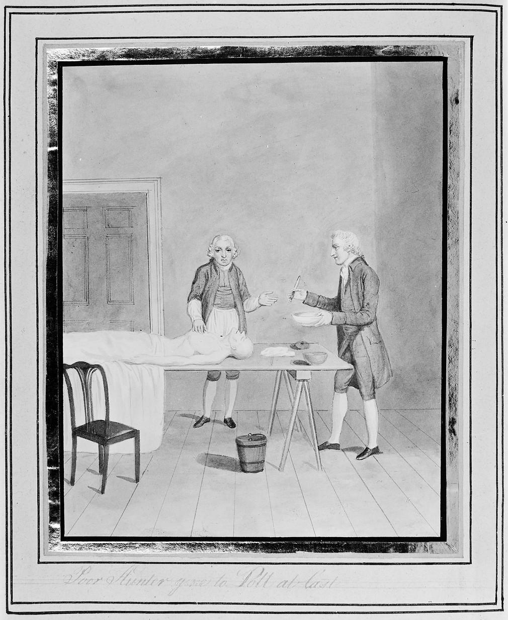 Jonh Hunter e i chirurghi inglesi nel Settecento