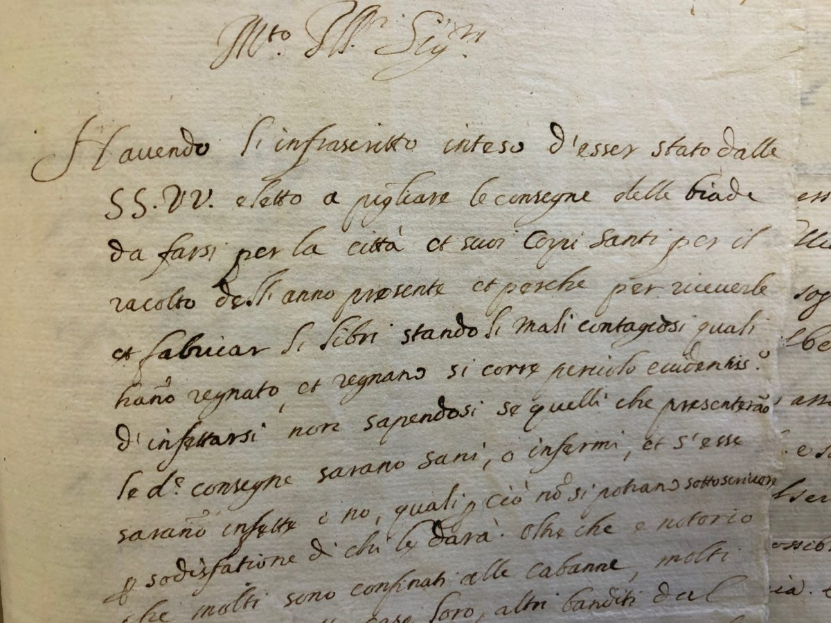 Una vecchia epidemia: la peste del 1630 raccontata nelle carte d'archivio di Alessandria