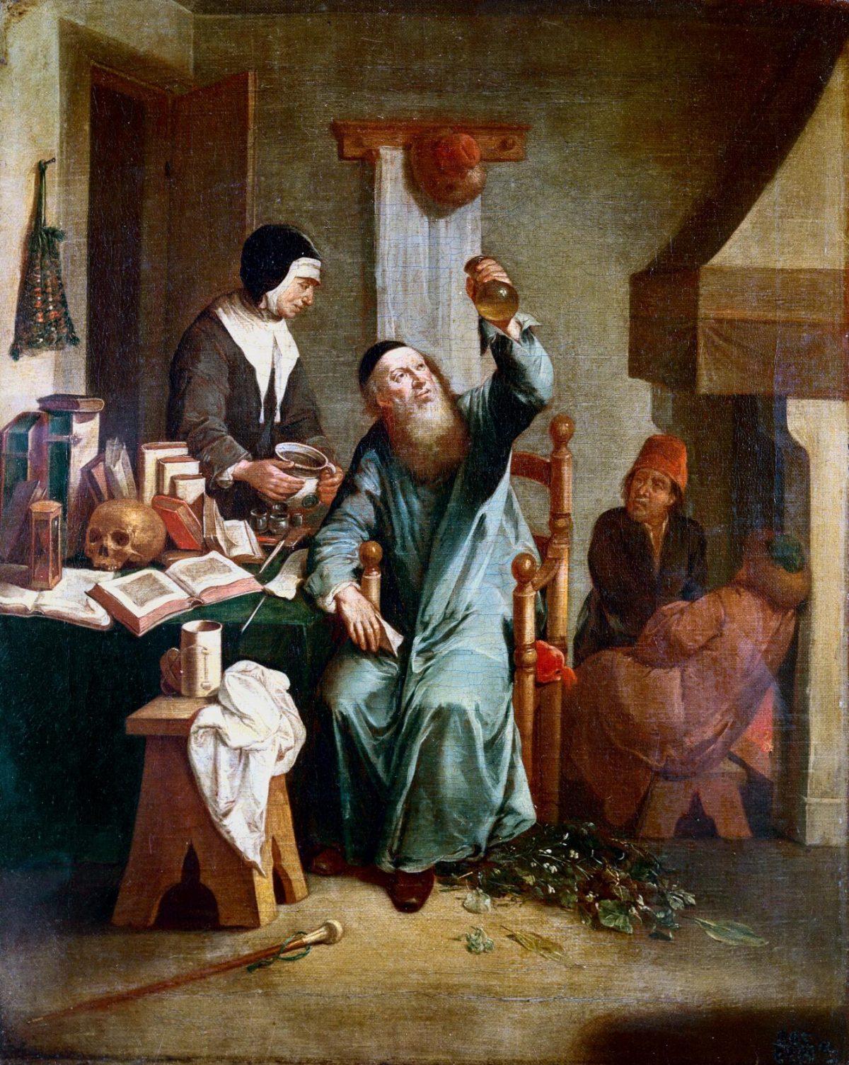 Uroscopia e rappresentazione del gesto medico